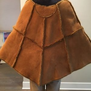 UGG Shearling Cape with Pockets